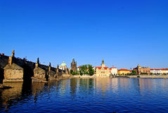 Ponticello del Charles a Praga Immagini Stock Libere da Diritti
