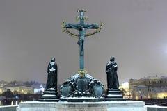 Ponticello del Charles, Praga, repubblica ceca Fotografia Stock Libera da Diritti
