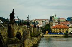 Ponticello del Charles, Praga, repubblica ceca Fotografie Stock Libere da Diritti