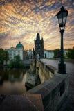 Ponticello del Charles, Praga, repubblica ceca Immagine Stock Libera da Diritti