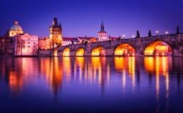 Ponticello del Charles, Praga, repubblica ceca Fotografia Stock