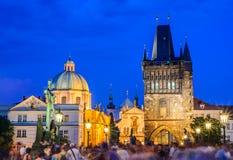Ponticello del Charles, Praga, repubblica ceca Immagini Stock