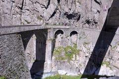 Ponticello del diavolo al passaggio della st Gotthard Fotografia Stock Libera da Diritti