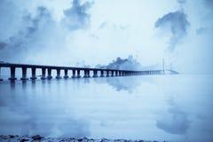 Ponticello del fiume di Schang-Hai yangtze fotografia stock