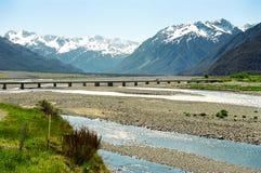 Ponticello del passaggio del Arthur, Nuova Zelanda Fotografia Stock Libera da Diritti
