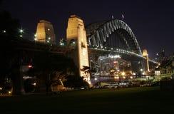 Ponticello del porto alla notte (Nord) Fotografie Stock Libere da Diritti