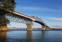 Ponticello del porto di Auckland immagine stock