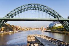 Ponticello del Tyne dal ponticello di oscillazione Fotografia Stock Libera da Diritti