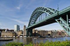 Ponticello del Tyne a Newcastle Immagini Stock Libere da Diritti