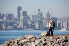 Ponticello della baia di Oakland Fotografie Stock