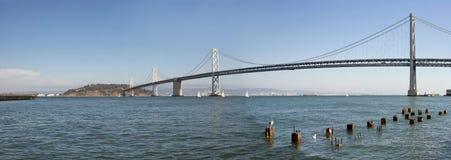 Ponticello della baia di Oakland sopra San Francisco Bay Immagini Stock Libere da Diritti