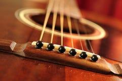 Ponticello della chitarra immagini stock