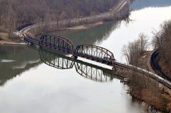 Ponticello della ferrovia della Virginia dell'Ovest Fotografie Stock Libere da Diritti