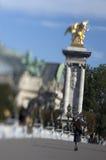 Ponticello della Francia - di Parigi - dell'Alexandre III Immagini Stock