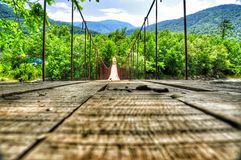 Ponticello della sospensione Bridge fotografie stock libere da diritti