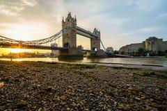 Ponticello della torretta a Londra, Inghilterra Immagine Stock