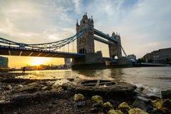 Ponticello della torretta a Londra, Inghilterra Fotografia Stock Libera da Diritti