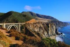 Ponticello di Bixby - grande Sur - California Fotografia Stock