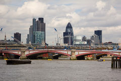 Ponticello di Blackfriars a Londra Immagine Stock