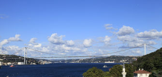 Ponticello di Bosphorus, Costantinopoli, Turchia Immagine Stock Libera da Diritti
