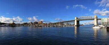 Ponticello di Burrard, Vancouver Fotografie Stock