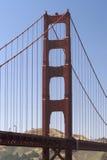 Ponticello di cancello dorato Fotografia Stock