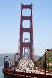 Ponticello di cancello dorato Fotografie Stock