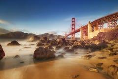 Ponticello di cancello dorato di San Francisco Immagine Stock Libera da Diritti