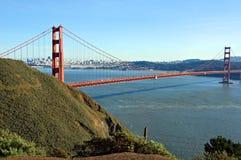 Ponticello di cancello dorato e San Francisco Immagine Stock