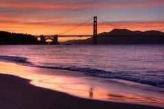 Ponticello di cancello dorato, San Franci Fotografia Stock