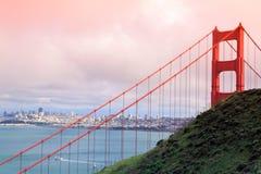 Ponticello di cancello dorato. San Francisco fotografia stock libera da diritti