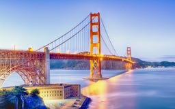 Ponticello di cancello dorato San Francisco Fotografia Stock Libera da Diritti