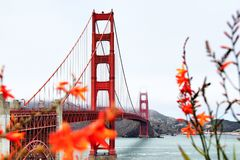 Ponticello di cancello dorato San Francisco Immagine Stock Libera da Diritti