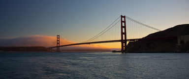 Ponticello di cancello dorato a San Francisco Fotografie Stock Libere da Diritti