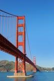 Ponticello di cancello dorato a San Francisco Fotografia Stock Libera da Diritti
