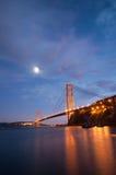 Ponticello di cancello dorato, San Francisco al crepuscolo immagini stock