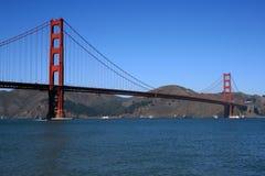 Ponticello di cancello dorato a San Francisco California Fotografie Stock Libere da Diritti