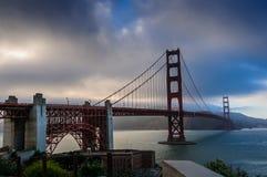 Ponticello di cancello dorato, San Francisco, California, S Immagini Stock