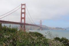 Ponticello di cancello dorato, San Francisco, California, S Fotografia Stock
