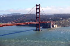 Ponticello di cancello dorato a San Francisco Calofornia Immagini Stock Libere da Diritti