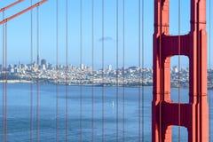 Ponticello di cancello dorato - San Francisco fotografia stock libera da diritti