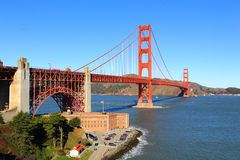 Ponticello di cancello dorato, San Francisco, S Fotografia Stock