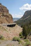 Ponticello di cancello dorato a Yellowstone Fotografia Stock