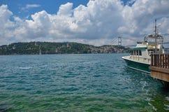 Ponticello di Costantinopoli Bosphorus Costantinopoli in Turchia fotografia stock