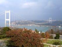 Ponticello di Fatih sopra Bosporus Immagine Stock