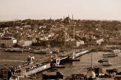 Ponticello di Galata, Costantinopoli Fotografie Stock