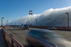 Ponticello di Goldengate in nebbia Fotografie Stock Libere da Diritti