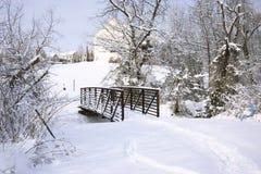 Ponticello di inverno fotografia stock libera da diritti