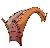 Ponticello di legno Fotografia Stock