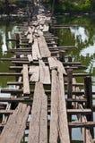 Ponticello di legno del piede Fotografie Stock